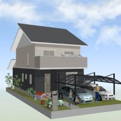 新築戸建 グロースタウン日下町  Z号地(全3区画)モデルハウス 10月初旬完成予定 全室ウイルス抗菌コーティング物件